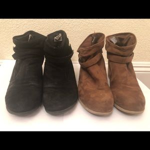 American Eagle Black and Brown Heeled Boots